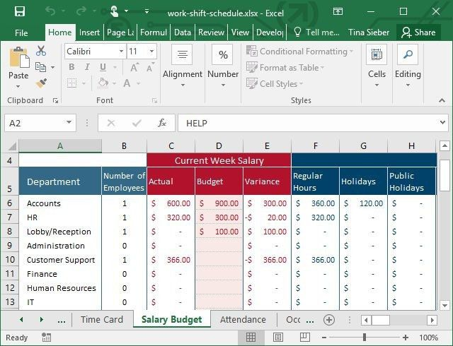Tips & Templates for Creating a Work Schedule in Excel