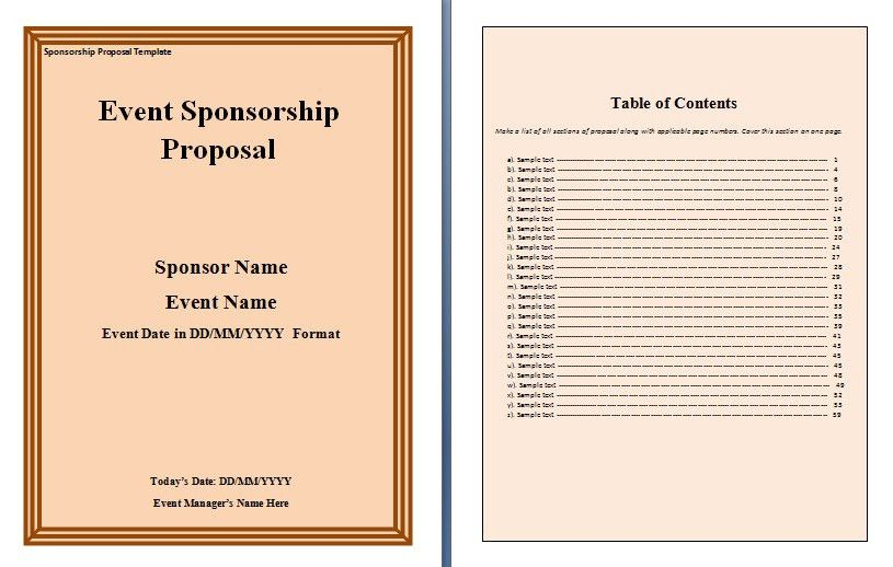 Sponsorship Proposal Template. Saturday, February 25Th 2017 ...