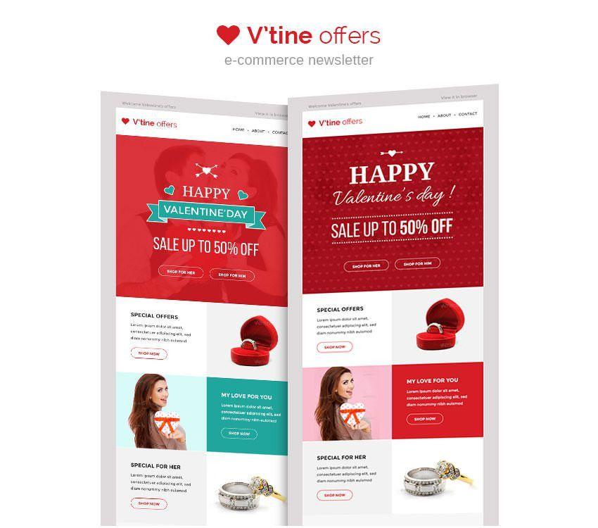 15+ Best Valentines Emails, Newsletter Templates   Free & Premium ...