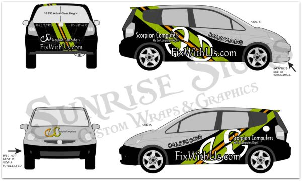 Your vehicle wrap will stand out even more if your design includes ...