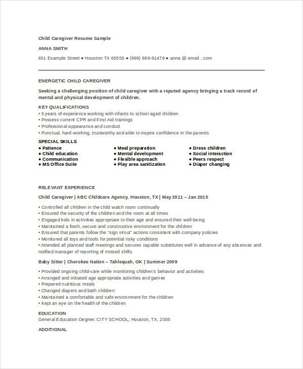 Download Caregiver Resume Sample | haadyaooverbayresort.com