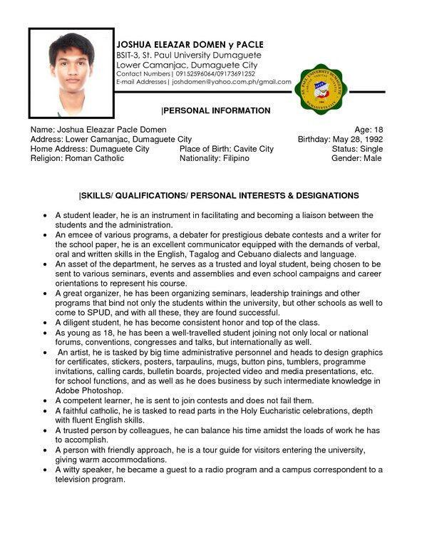 College Freshman Resume Sample   Free Resume Templates