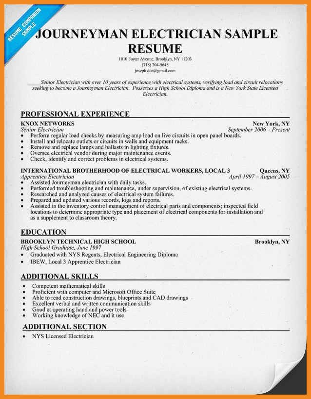 apprentice electrician resume sample unforgettable apprentice