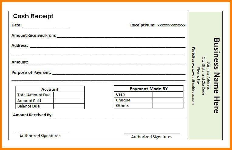 Payment Receipt Form, receipt form in doc doc #25503300 rent ...