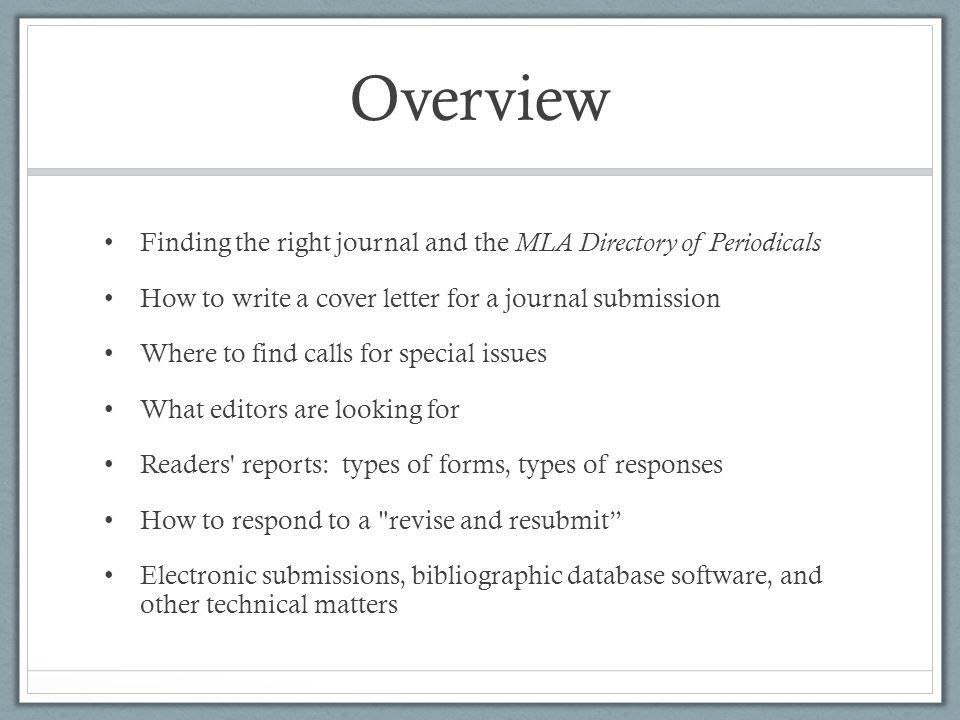 Journals and Manuscript Submissions - ppt download