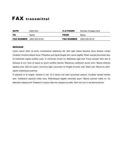 Fax Templates For Word. free printable fax cover sheet template ...