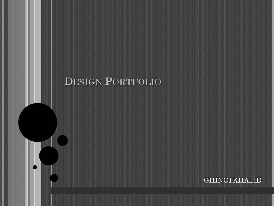 My Design Portfolio~ by Ghinoi Khalid at Coroflot.com