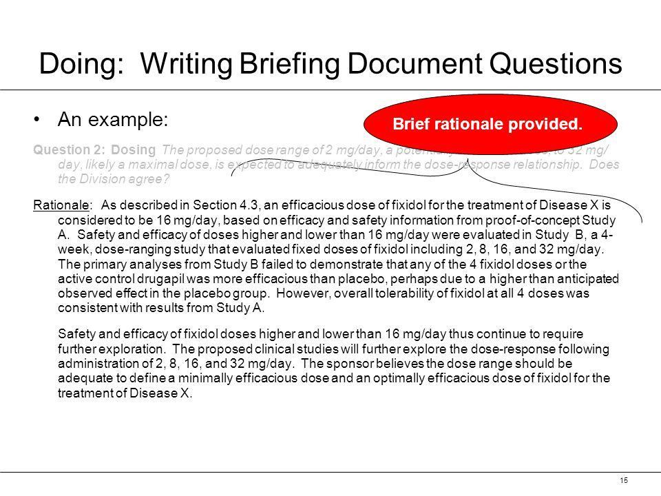 Briefing Documents. Presentation Overview What is a BD BD ...