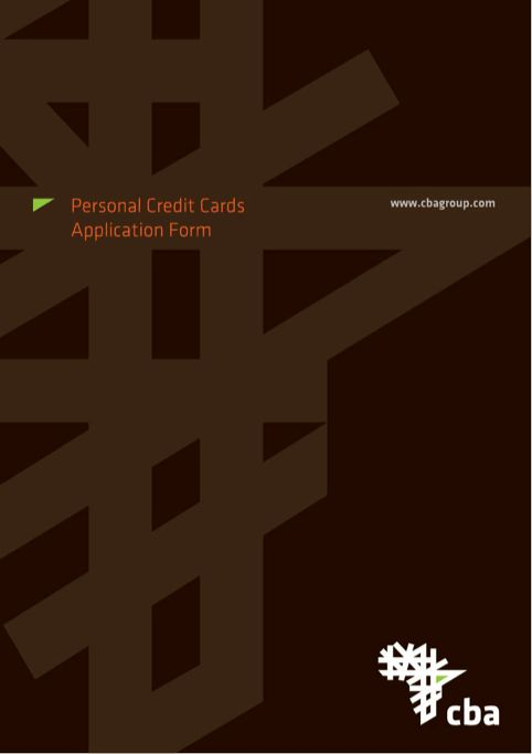 Credit Card Application Template | Templates&Forms | Pinterest