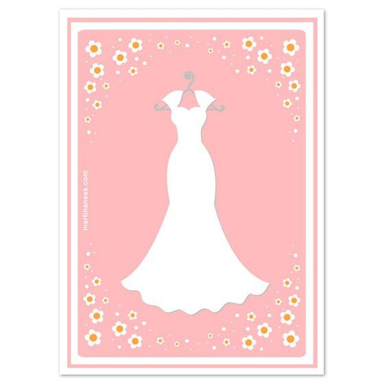 Wedding dress template for cards - All women dresses