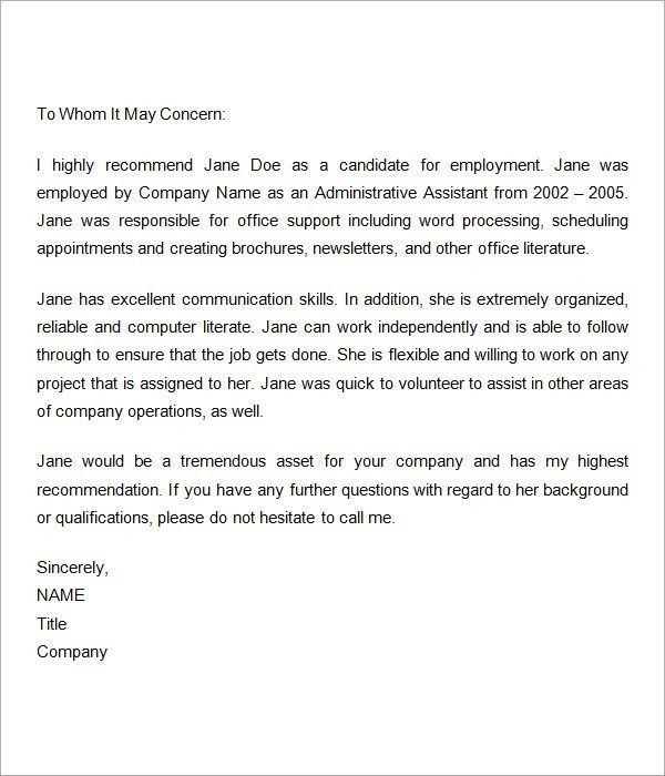 Employment-Recommendation-Letter-for-Previous-Employee | reference ...
