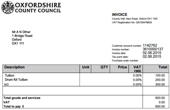 Pay an invoice online | Oxfordshire County Council