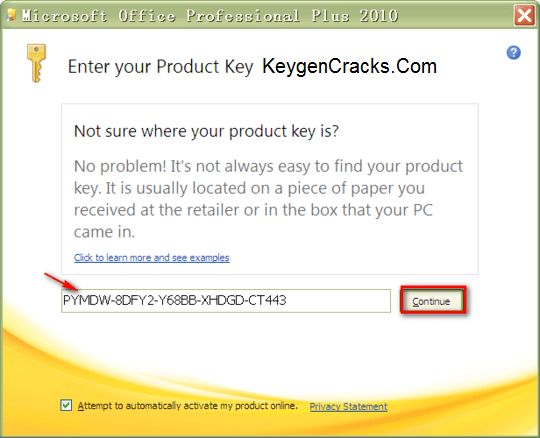 Office Professional Plus 2010 Product Key Free