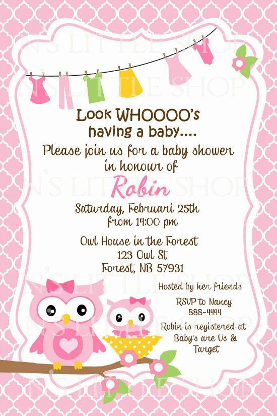 Owl Sayings for Baby | Baby Shower Invitation Wording | Baby ...