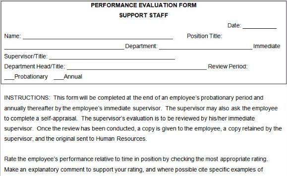 free employee performance review