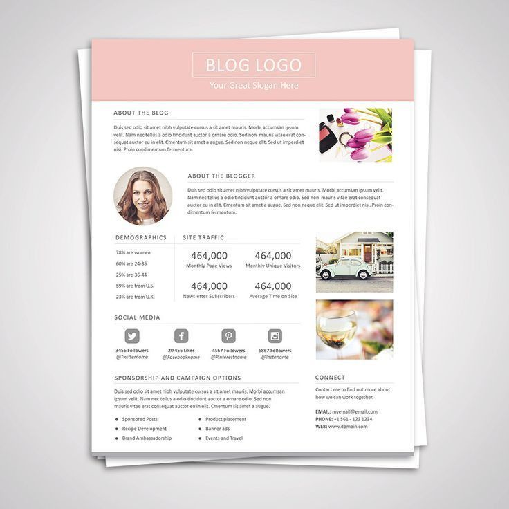 Best 25+ Media kit template ideas on Pinterest | Create free blog ...