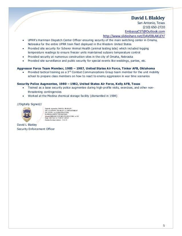 Security Officer Resume. Kevin Lindsay Security Guard Resume 8 ...