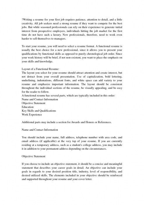 The Most Awesome Make A Resume For First Job   Resume Format Web
