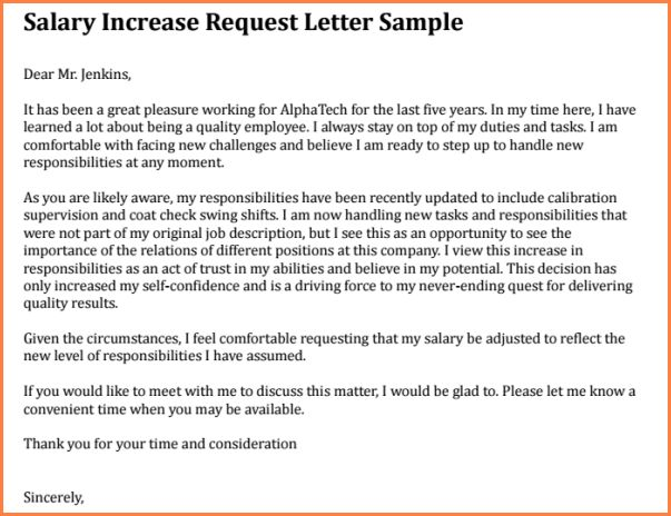 5+ proposal for salary increment | Simple salary slip