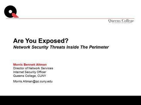INFORMATION SECURITY UPDATE Al Arboleda Chief Information Security ...