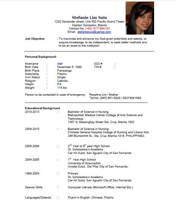 undergraduate sample resume. private equity resume template ...