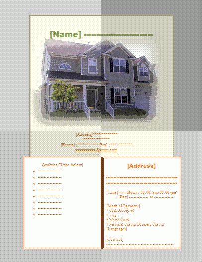House Sale Flyer Template | Wordtemplateshub.com