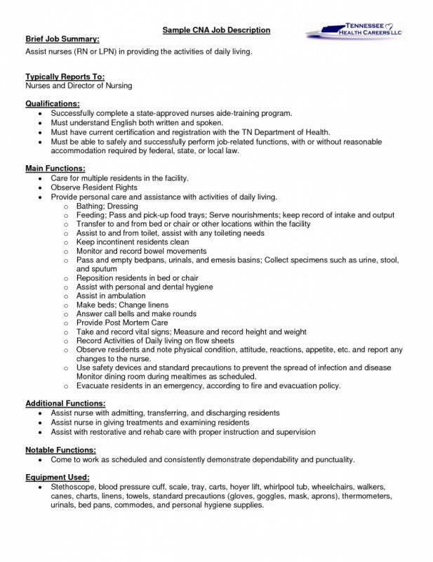 sample of a cna resume cover letter for cna resume sample resume ...
