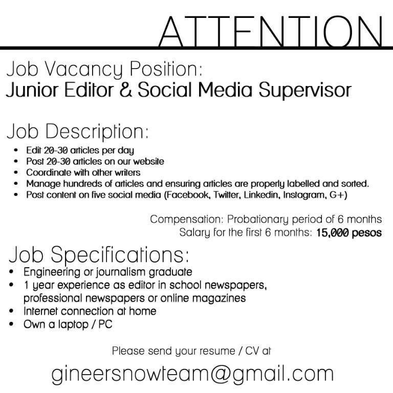 Content Editor Job Description. Web Content Editor Cover Letter ...