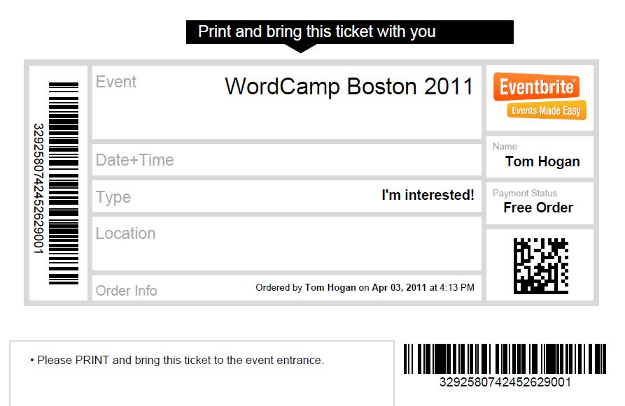 Registration Confusion – Eventbrite Signups are not tickets ...