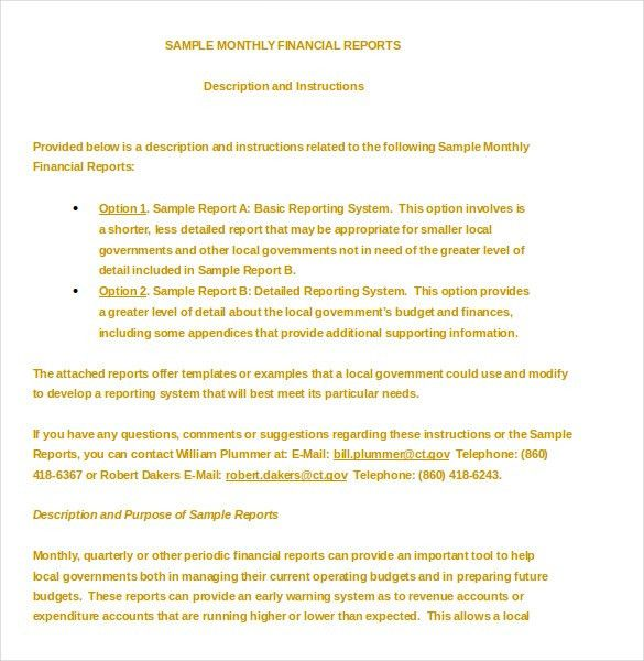 Financial Report Template – 10+ Free Word, PDF Documents Download ...