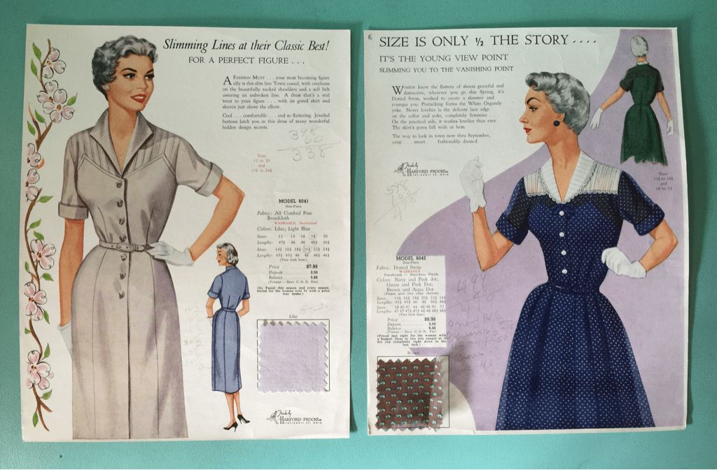 Mother Dear Monday: 1950s Fashion Frocks Salesman Samples ...
