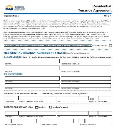 Sample Tenancy Agreement - 8+ Examples in Word, PDF