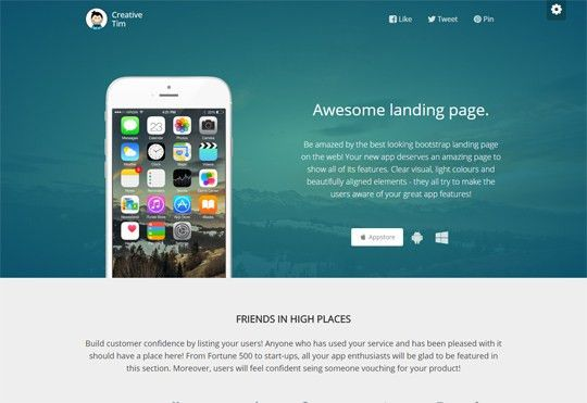 22 Best Bootstrap Landing Pages, Free & Premium | AZMIND