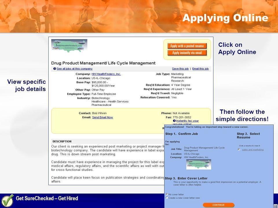 Get SureChecked – Get Hired. Agenda  Today's Job Market  The ...