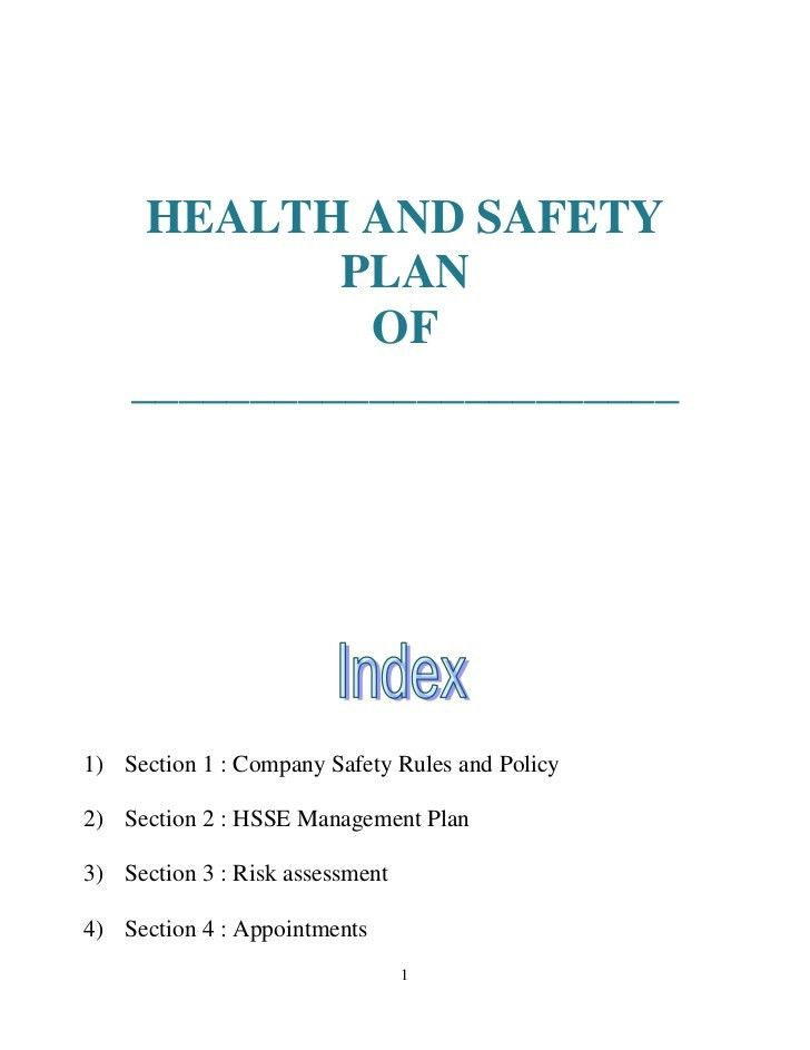 Sample Health And Safety Policy. Workplace Safety And Health ...