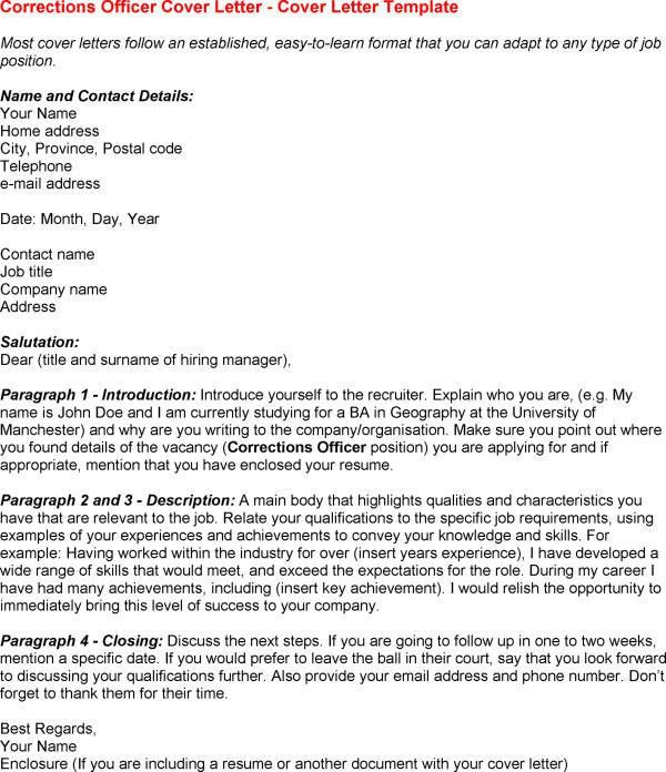 correctional officer cover letter sample with correctional officer - Cover Letter For Correctional Officer