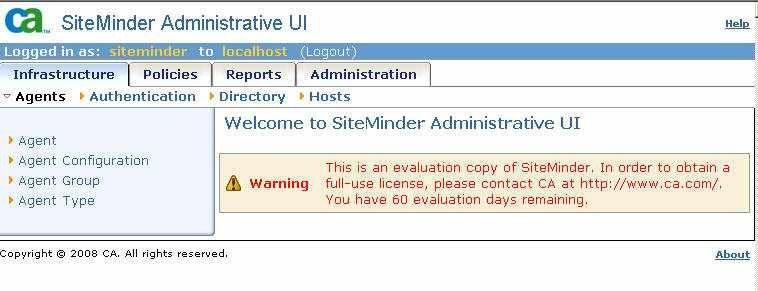 Quick guide to installing SiteMinder WAM R12 SP2 — CoreBlox