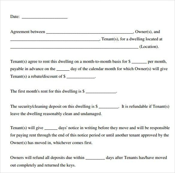 free lease format