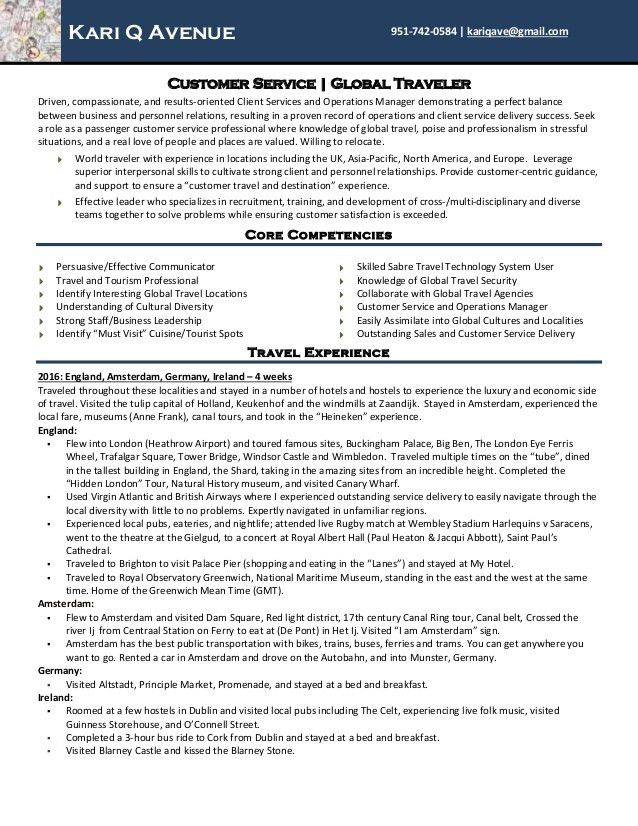 customer service travel tour guide resume for kari q avenue - Tour Guide Resume
