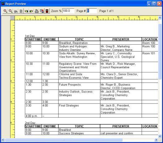 print agenda reports