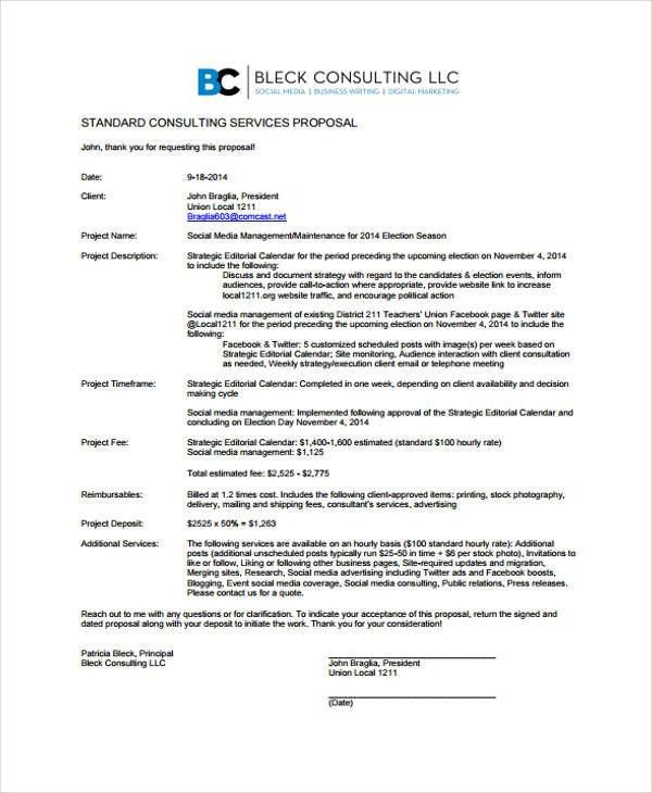 Consulting Service Proposal Templates - 4+ Free Word, PDF Format ...