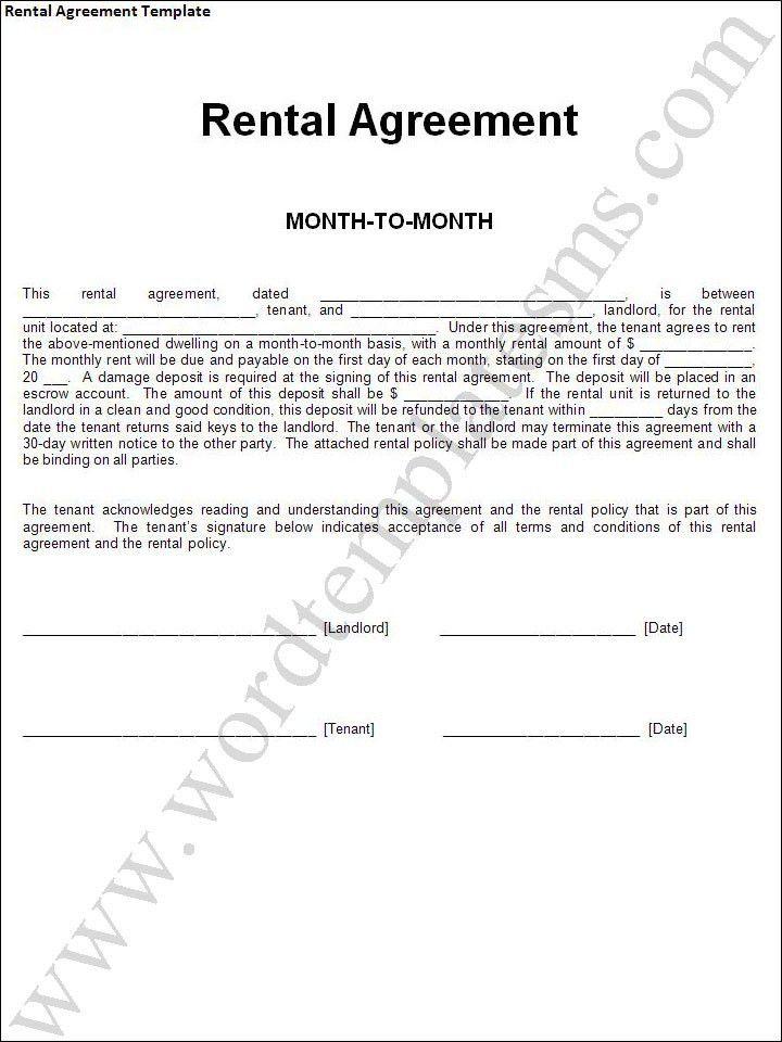Car Rental Form Template - Contegri.com