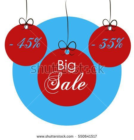 Sale Banner Red Round Tag Snow Stock Vector 520172284 - Shutterstock