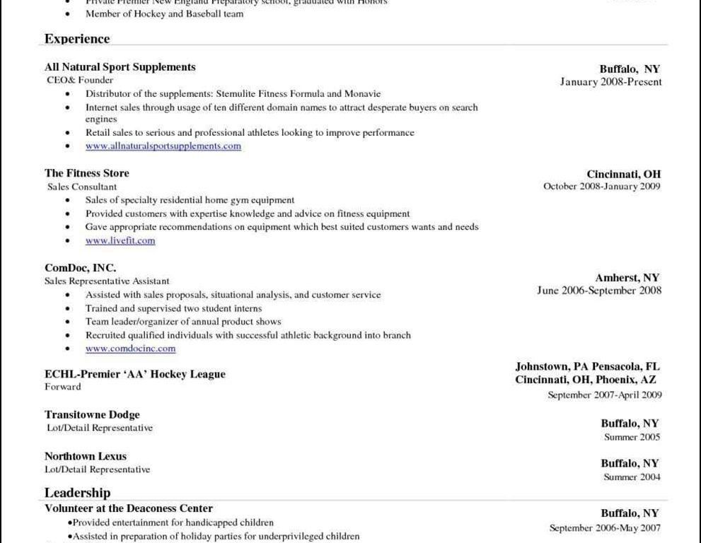 Word 2010 Resume Template. Free Resume Template Microsoft Word 7 ...