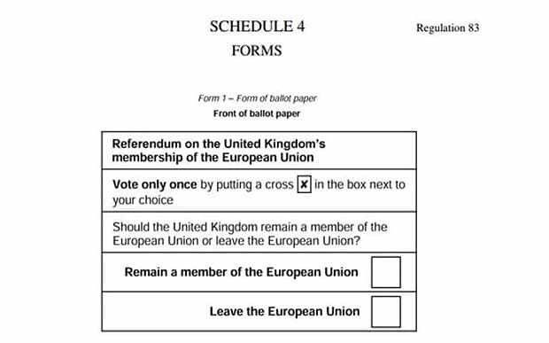 This is what the ballot paper for the EU referendum vote will look ...