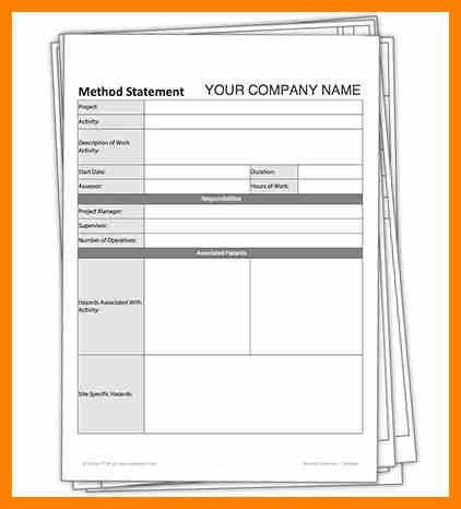 6+ method of statement template | target cashier