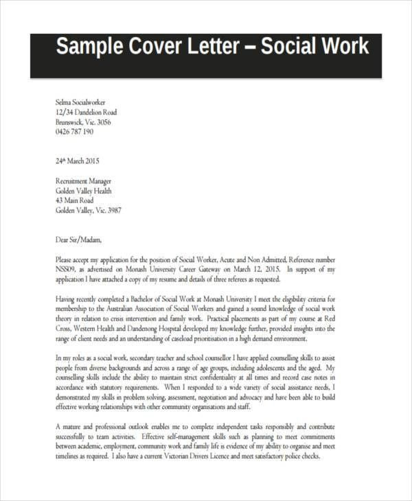 17+ Sample Work Application Letters - Free Sample, Example Format ...