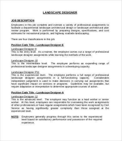 Landscaping Job Description - 7+ Free Word, PDF Documents Download ...