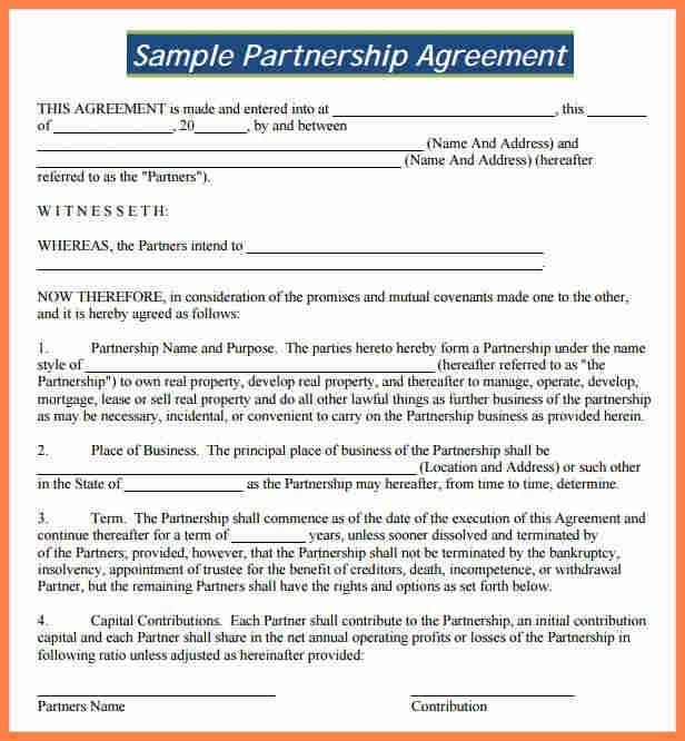 8+ partnership agreement template south africa | Purchase ...