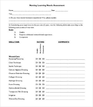 Nursing Assessment Template - 8+ Free Word, PDF Documents Download ...